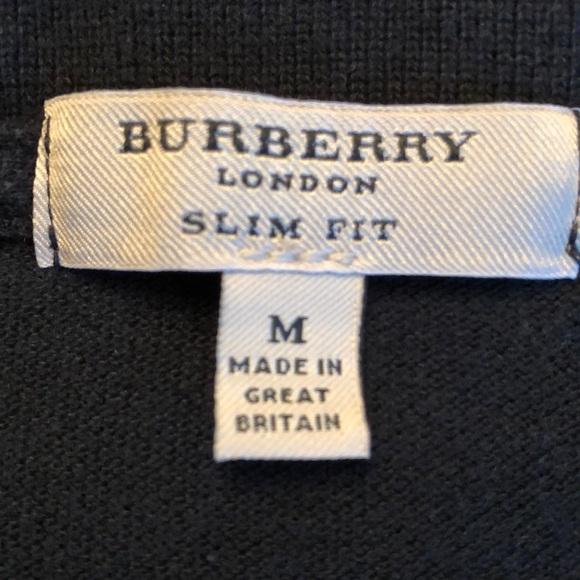 84a1dec2 Burberry Shirts | Authentic London Black Polo Sz M Slim Fit | Poshmark